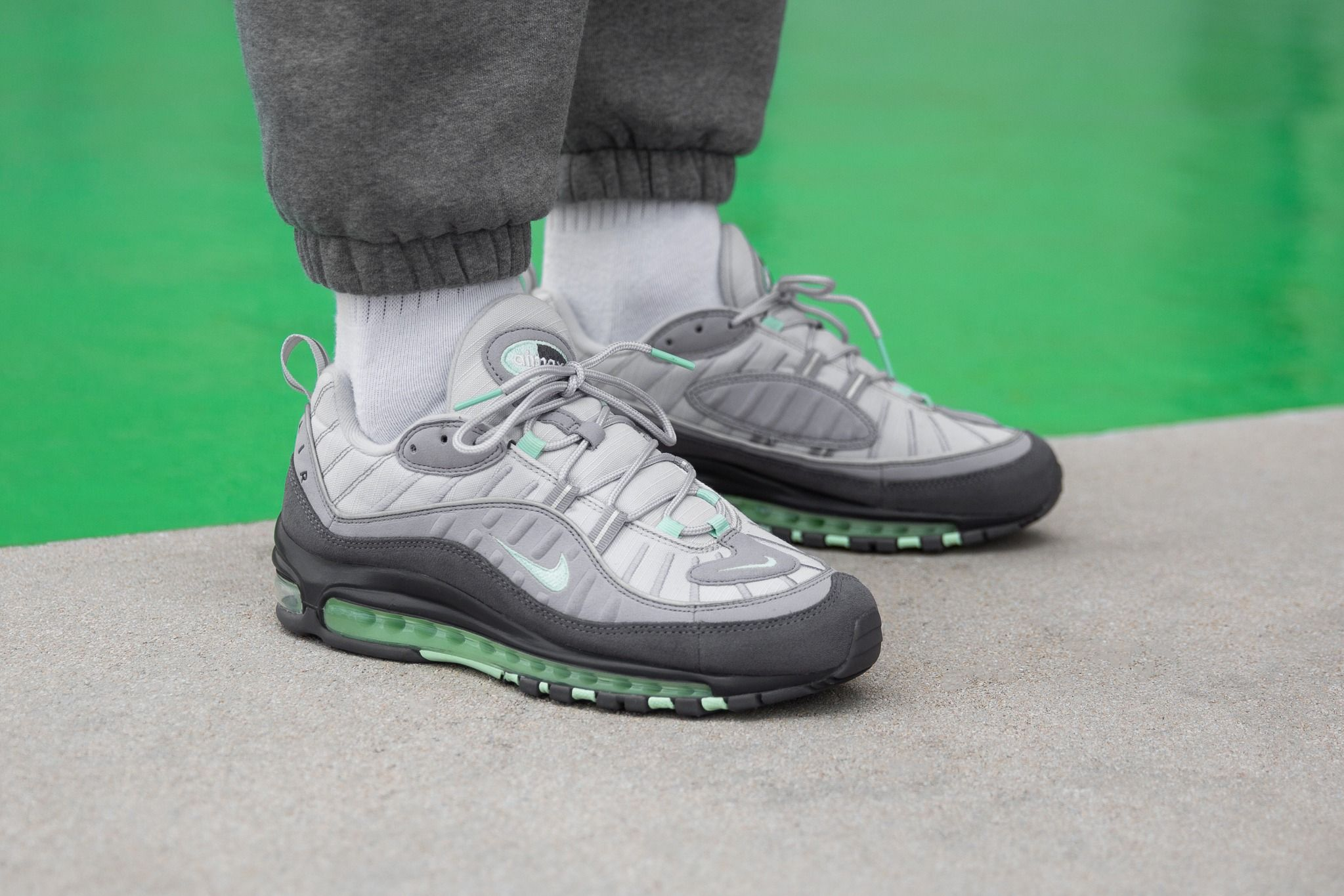 On Foot Nike Air Max 98 Fresh Mint Green Nike Air Max Nike