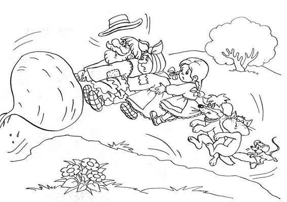 Resultado De Imagen Para Dibujos Para Pintar De Princesas: Resultado De Imagen Para El Nabo Gigante Para Colorear