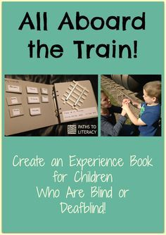 Make your own experience book with braille and tactile symbols for ...
