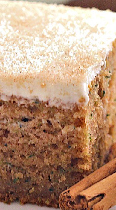 Cinnamon Zucchini Cake With Cream Cheese Frosting Recipe