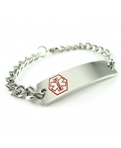 Ngraved Customizable Coumadin Medical Alert Id Bracelet Curb Chain