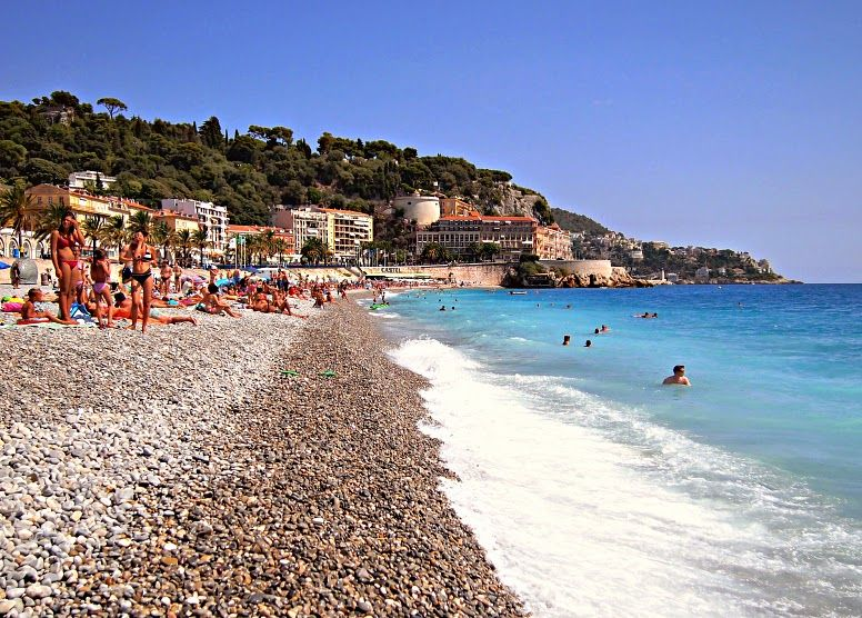 Sandglass On Beaches In Nice, France