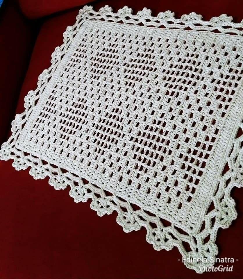 Pin De Lourdes Em Tejidos Tapete De Croche Quadrado Tapetes