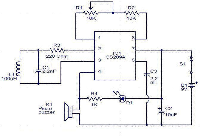 Metal detector circuit diagram metal detectors pinterest metal detector circuit diagram ccuart Choice Image