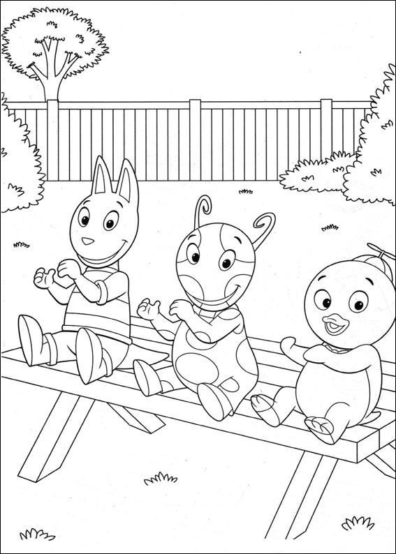 coloring page Backyardigans - Backyardigans | Savannah birthday ...