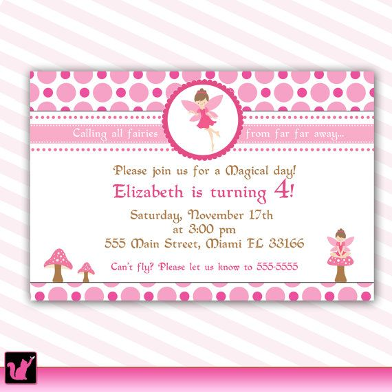 Pixie fairy birthday invitation card for girl printable pixie fairy birthday invitation card for girl printable personalized digital file baby girl shower invite 1st birthday party or any age stopboris Images