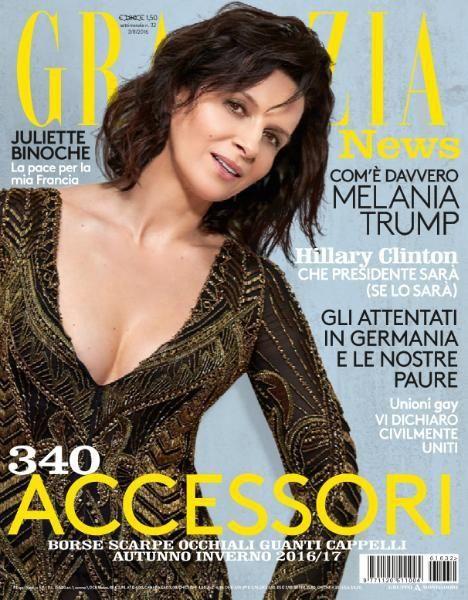 Juliette Binoche for Grazia Italia - 3rd August 2016