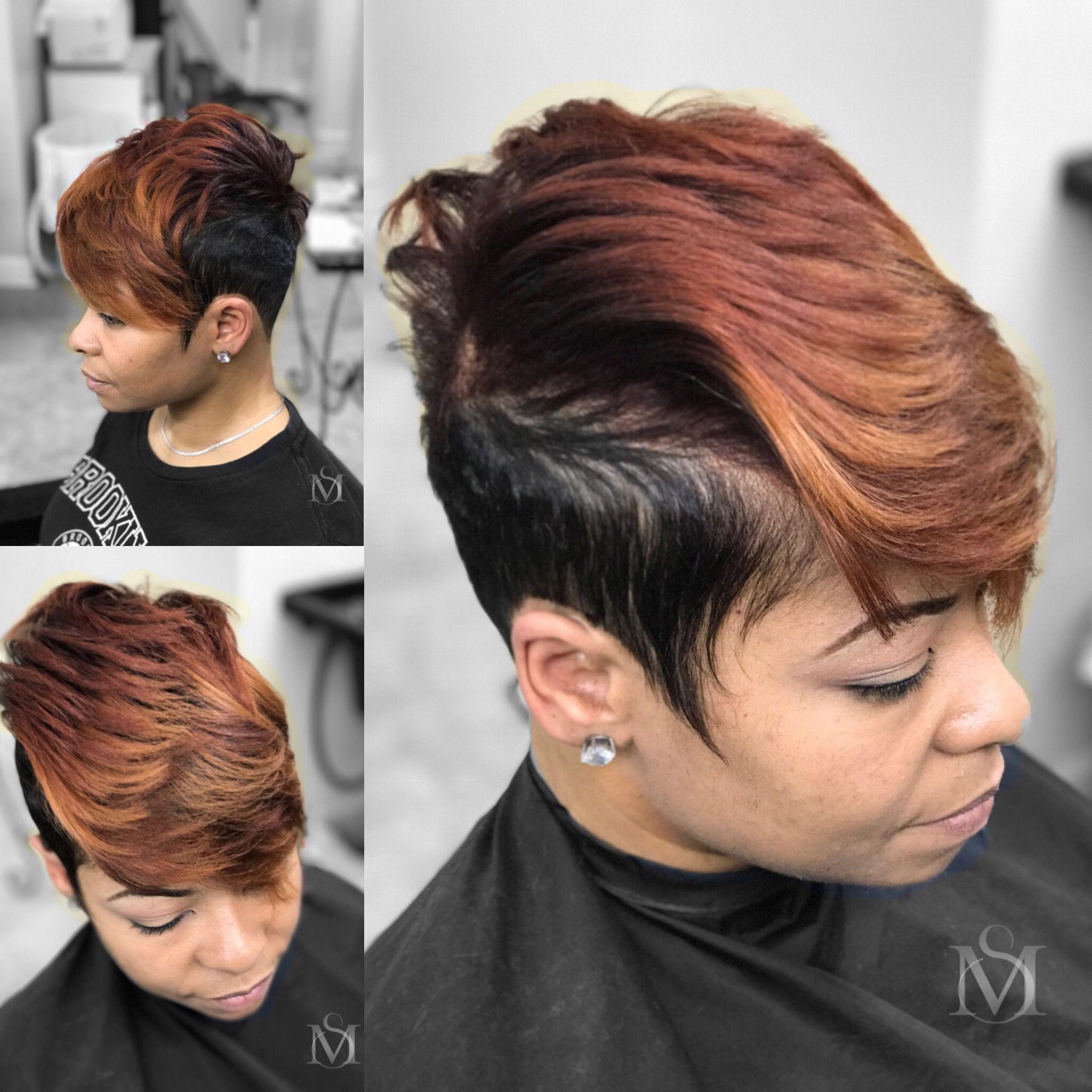 Sassy u short color pixie cut mishawnsalon baldness cure
