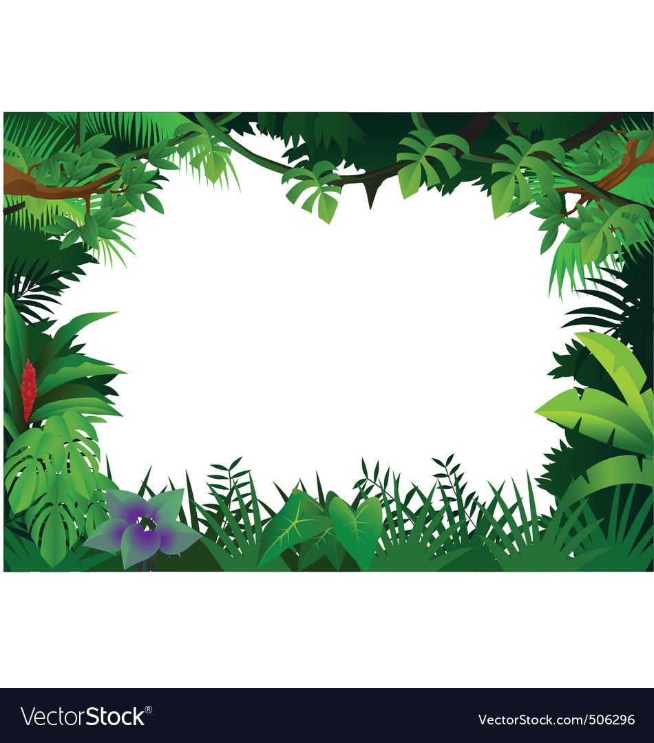 Jungle frame vector image on (With images) Jungle theme