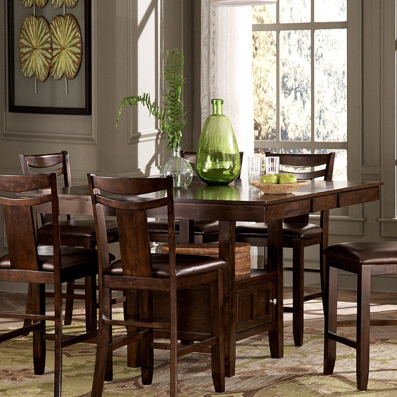 Homelegance Broome Expandable Storage Counter Height Dining