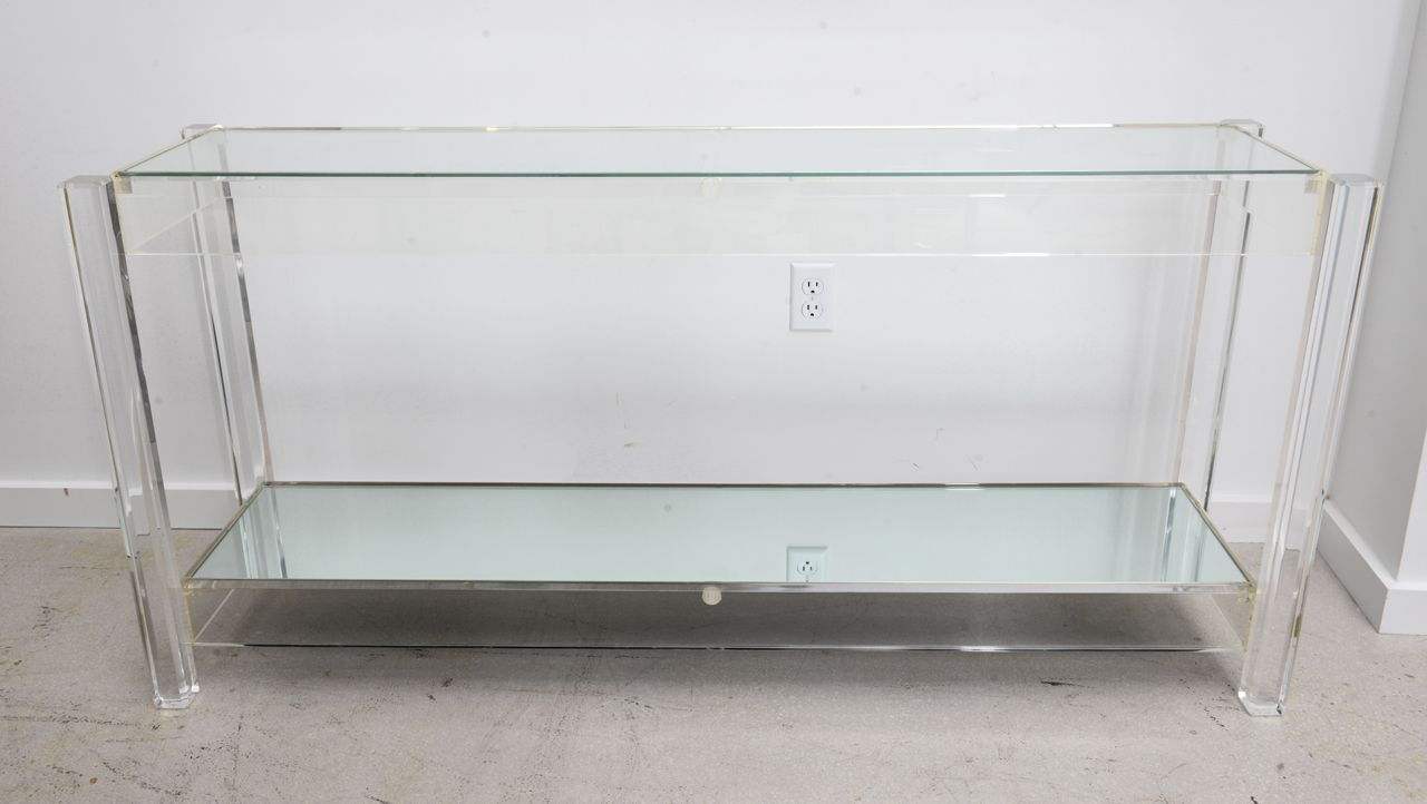 Charmant Vintage Lucite Console Table | From A Unique Collection Of Antique And  Modern Console Tables At Https://www.1stdibs.com/furniture/tables/console  Tables/