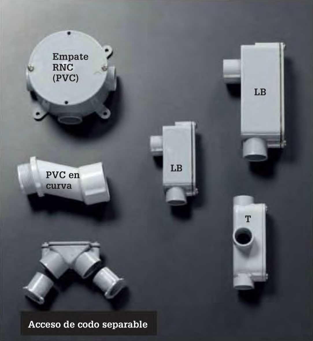 Instalaciones el ctricas residenciales accesorios para - Tubo pvc electrico ...