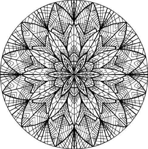 Mandala moderne pour adulte imprimer et colorier - Mandala pour adultes ...
