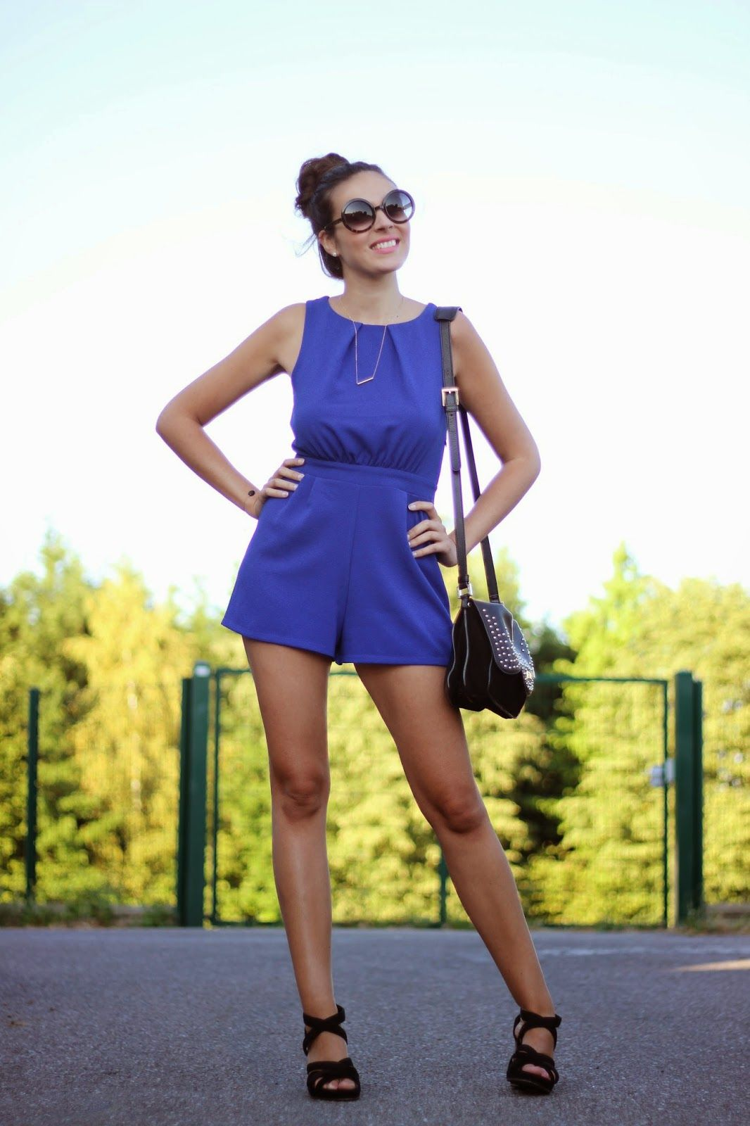 Pretty Blue Outfit With Our Betty X Lancaster Bag Pic From