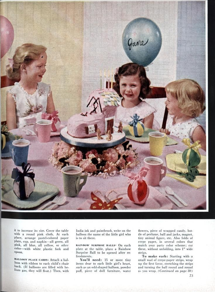 Give a Storybook Mother Goose Party (Oct, 1955) Double Click Photo for Entire Article