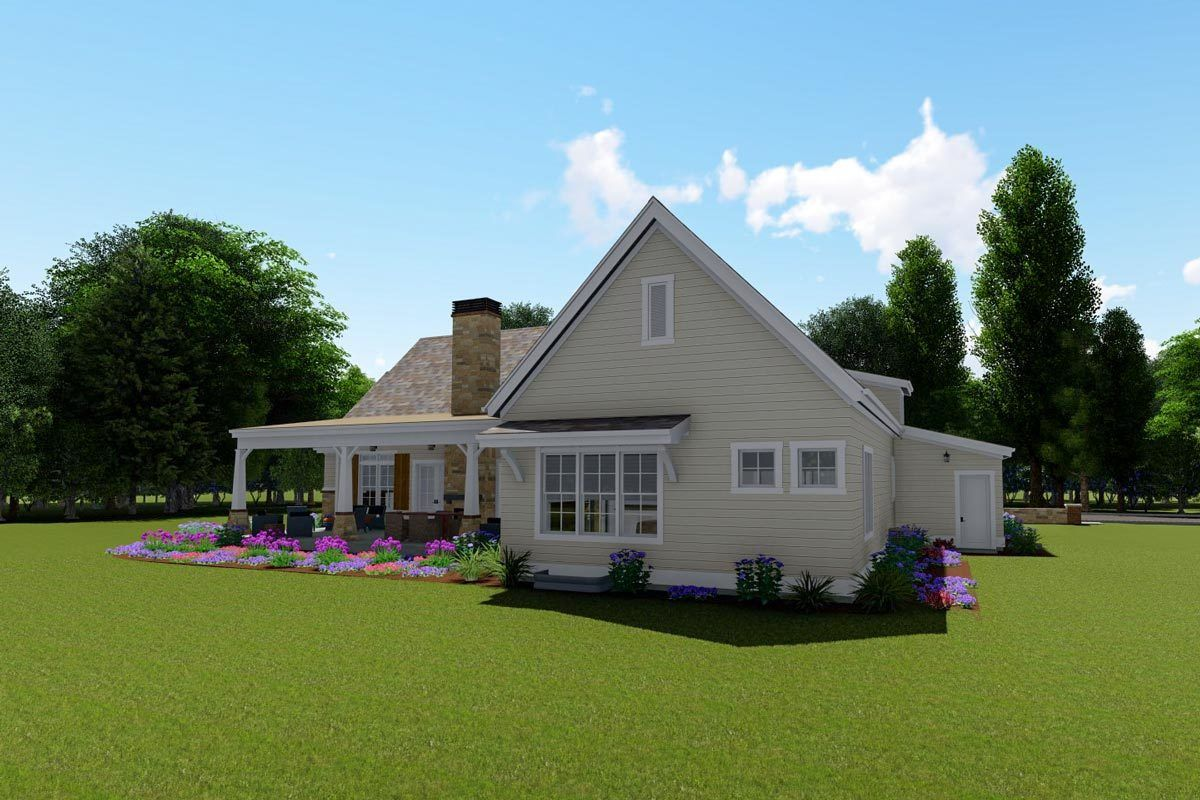 Plan 64466SC: Rustic Farmhouse with Optional Finished Lower Level and Bonus images