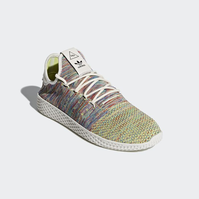 2478549e0 Pharrell Williams Tennis Hu Primeknit Shoes Green 4 Mens in 2019 ...