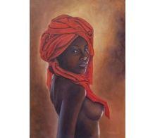 Africana #arte #oleo #pintura #cuadros #arteizate #mujer #etnico #retrato #desnudo