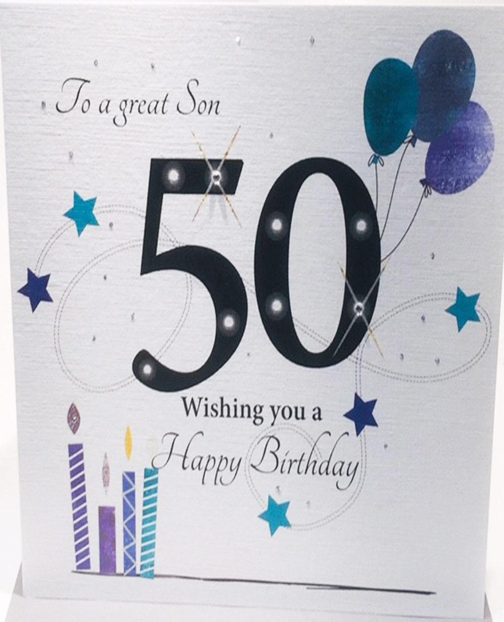 Large 50th Birthday Card For Son 8 25 X 8 25 Inches 5060397067920 Ebay Birthday Cards For Son 50th Birthday Cards 50th Birthday Quotes
