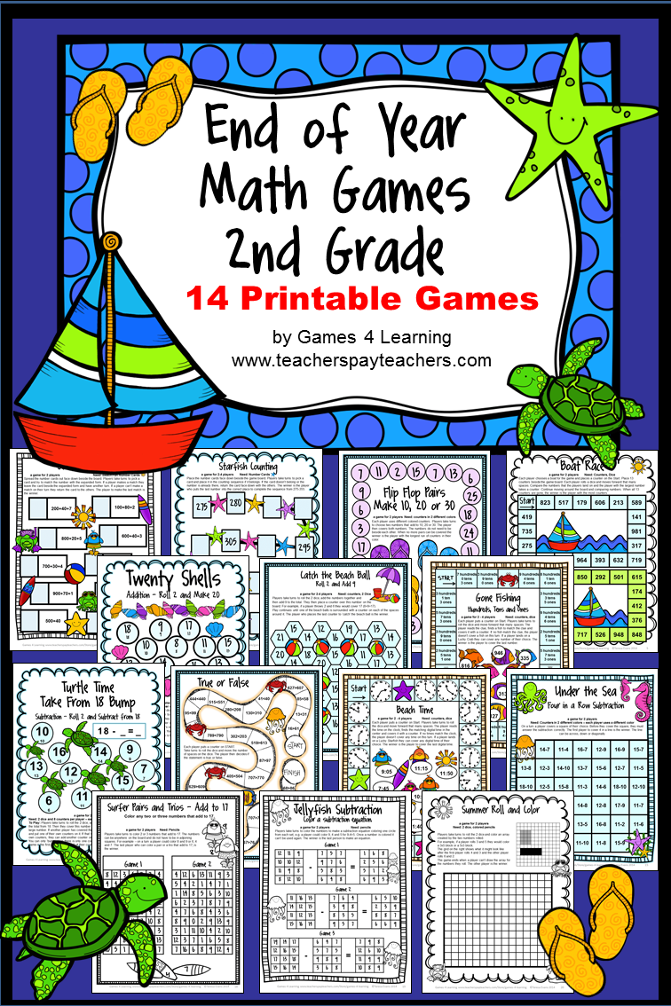 End of Year Math Games Second Grade: End of the Year Activities or ...