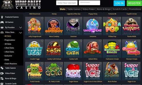 Vegas Crest Casino no Deposit Bonus Codes Get 20 Free