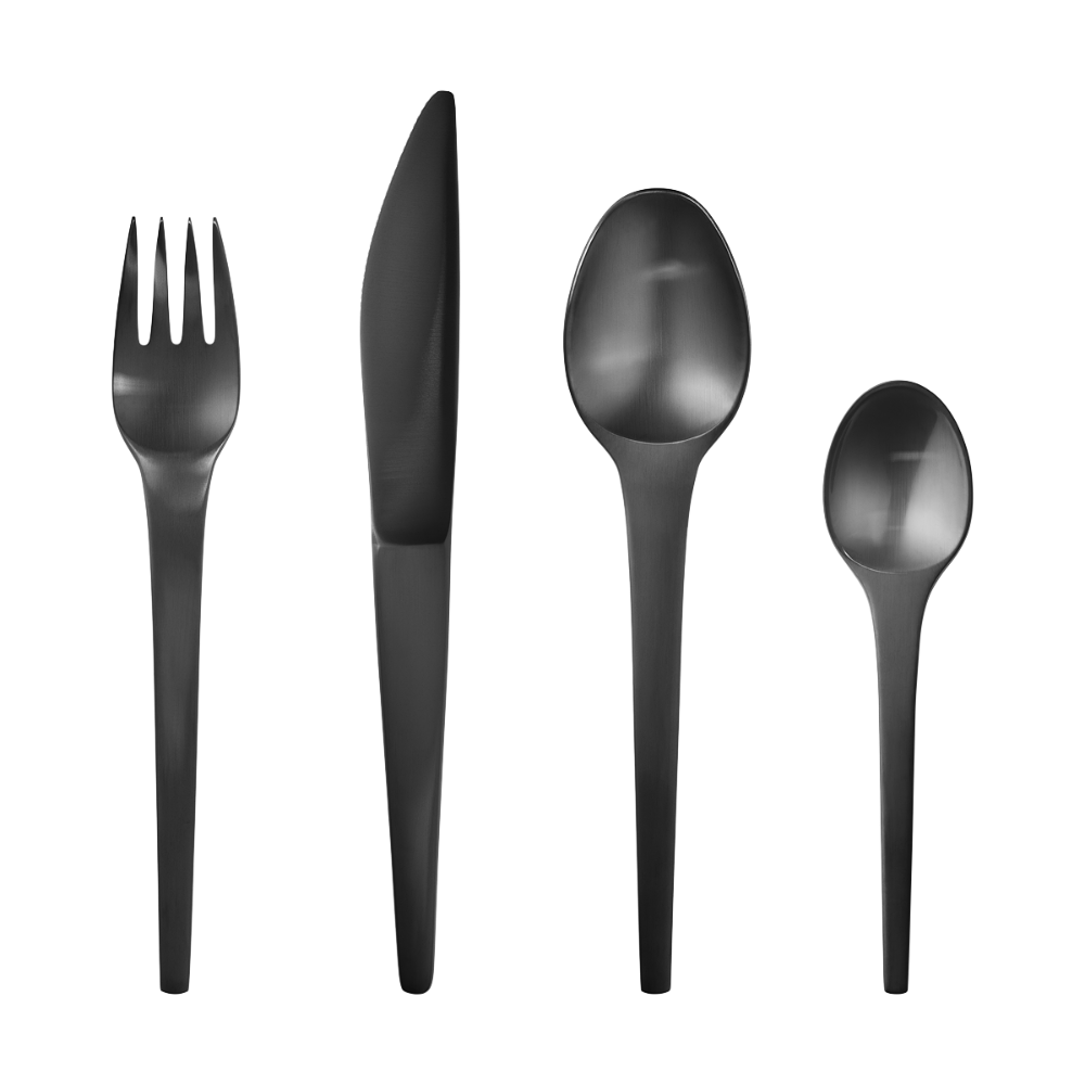 CARAVEL cutlery set PVD, 4 pcs. (11, 12, 13, 31) (With