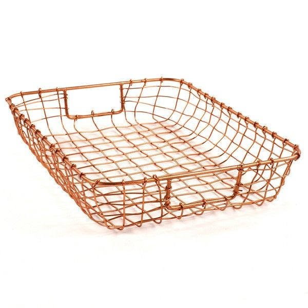 Marvelous Cabo Letter Basket   Copper