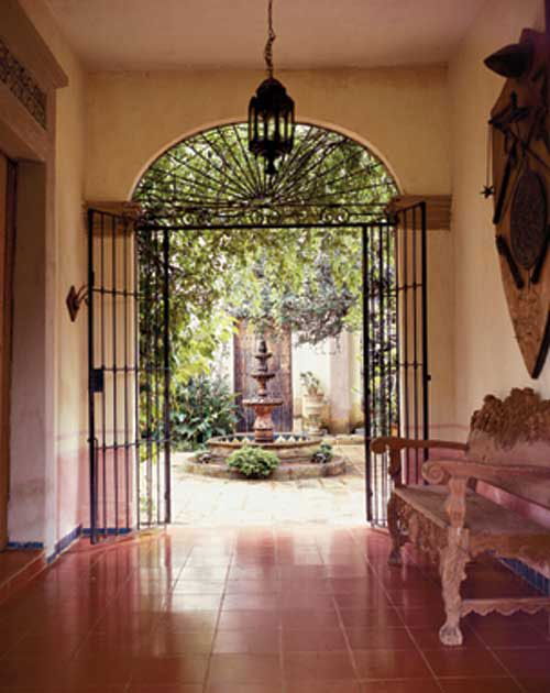Mexican architectural style doors gates windows for Mexican style architecture
