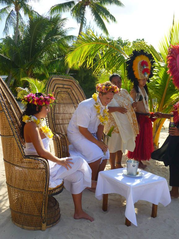 Tahitian Wedding At Hilton Moorea Lagoon Resort And Spa