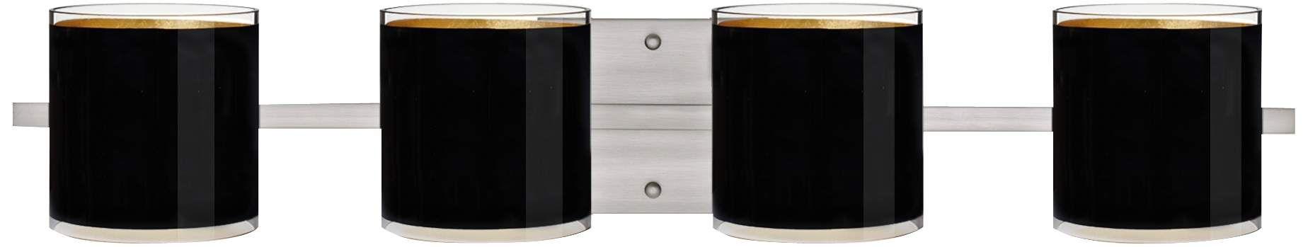 Photo of Besa Pogo 31 Inch Wide Black Bathroom Light