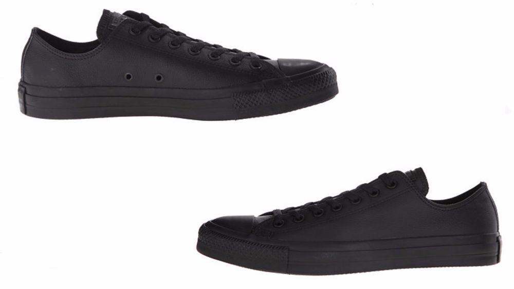 fdfd9734ce336 Converse MEN S CHUCK TAYLOR ALL STAR LOW TOP LEATHER BLACK 135253C   converse  135253C