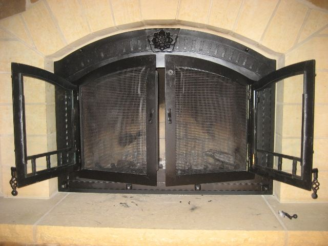 Wrought Iron Fireplace Doors | Fireplace Doors   Iron