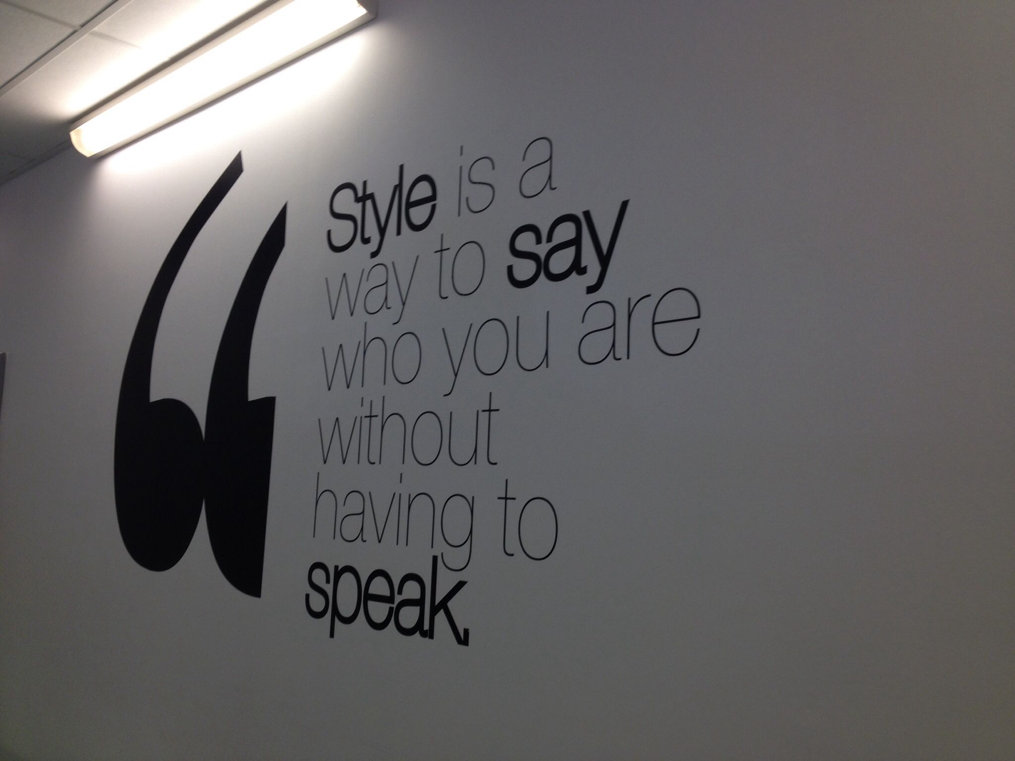 Style is a way to say who you are without having to speak wall sticker from www.wallchimp.co.uk