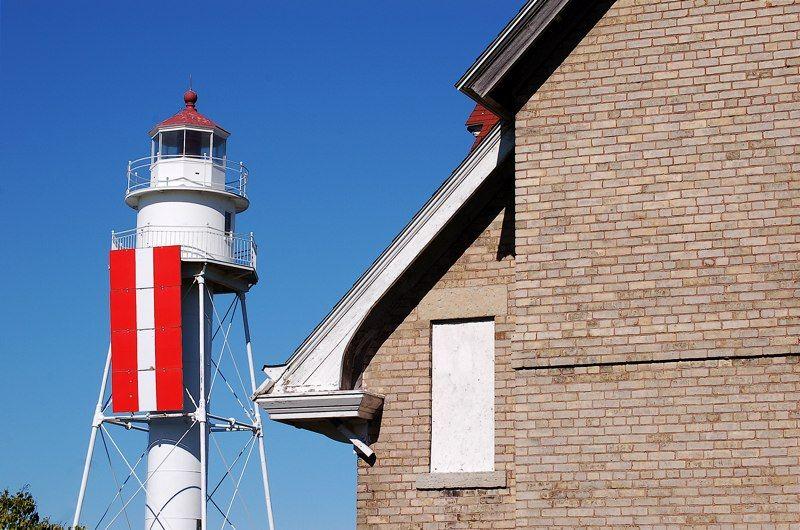Plum Island Rear Range Light and Lighthouse Keepers Quarters