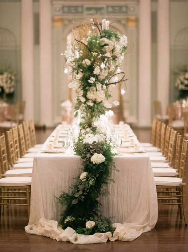 wedding decoration ideas south africa%0A Long Table Garland Wedding Centerpiece  Photography Altmix Photography