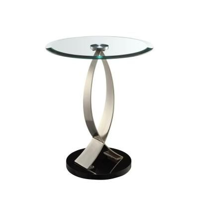 Black Gl Top Side Table In 2019 Bar Chair