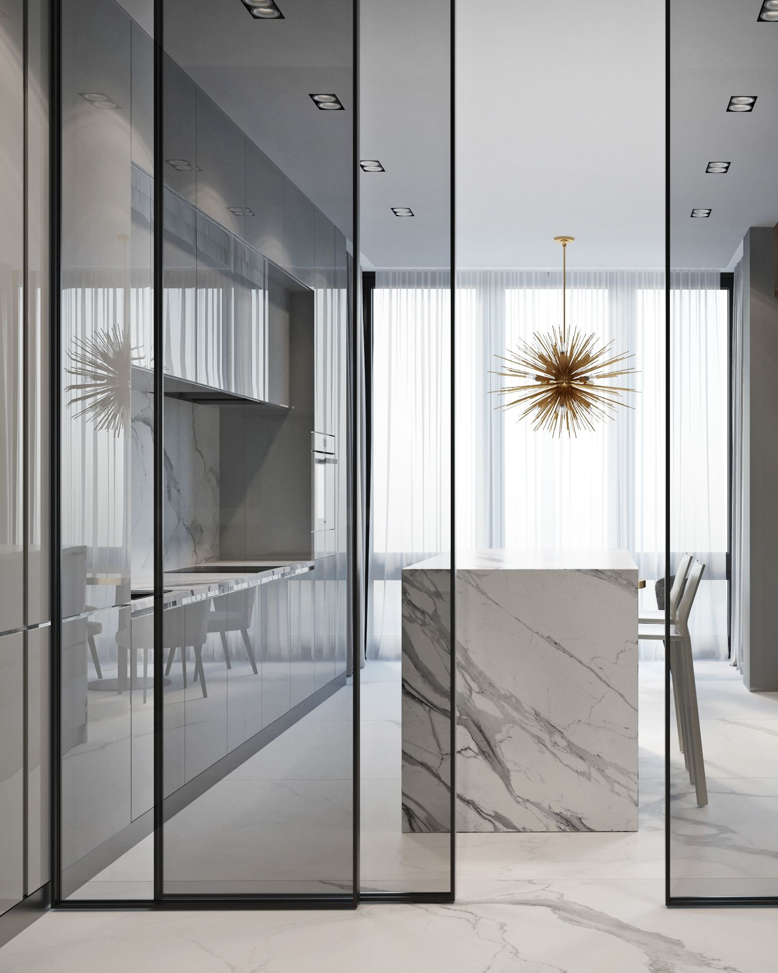 This Flat In Moscow Is A Luxury Mid Century Design Paradise Unique Blog Luxury Home Decor Home Interior Design Glass Doors Interior