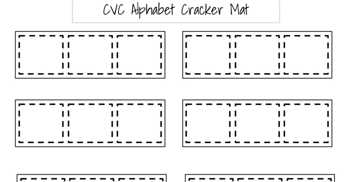 CVC Alphabet Cracker Mat kitchenfloorcrafts.blogspot.com