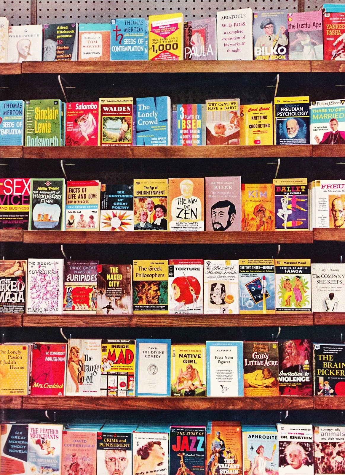 Surprising Incredible Circa 1960 Photo Of Paperback Shelf At Bookstore Download Free Architecture Designs Embacsunscenecom
