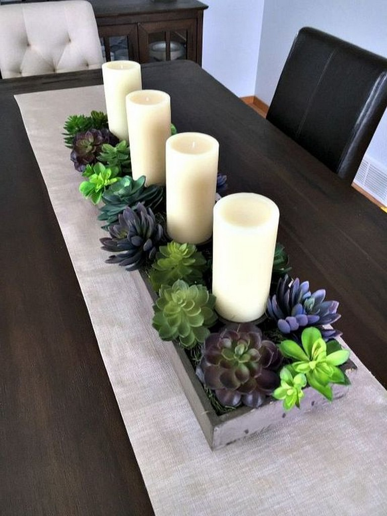 23+ Smart Ideas to Decorate Dining Room Table Center ...