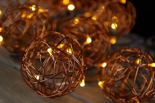 Copper Wire Ball Led Fairy Lights Battery Operated 7 Ft Brown Wire With Light Timer Red Led Fairy Lights Fairy Lights Lights Timer