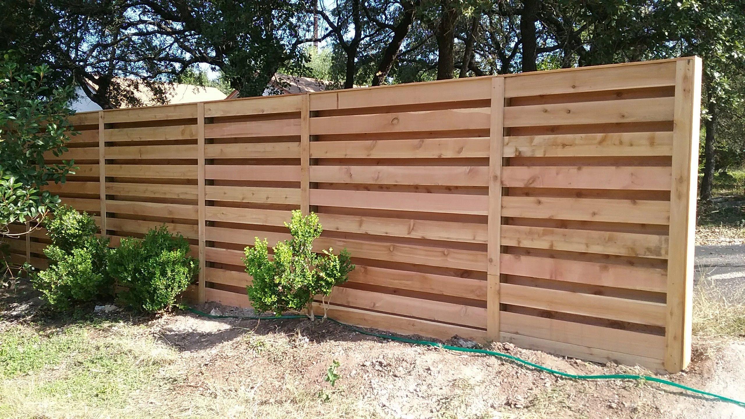 Horizontal Shadow Box Fence Built By Landmark Fence Shadow Box