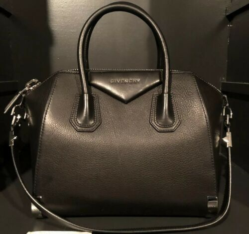 58a55203a9 Details about TOD S Black Grained Leather Top Handle Satchel Bag in ...