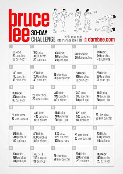 Bruce Lee Challenge  Workout    Bruce Lee Fitness