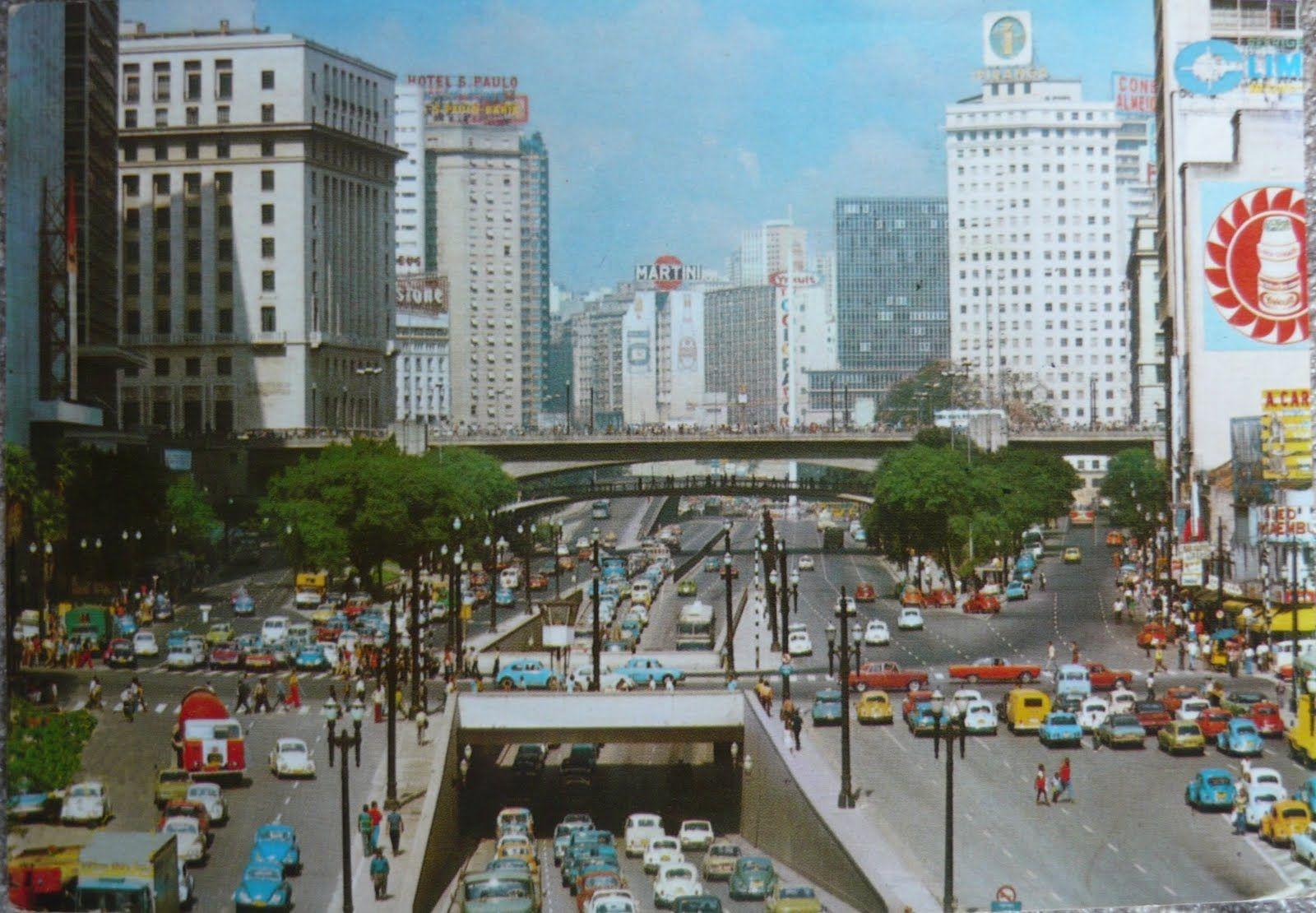 Anos 70 Vale Do Anhangabau Sao Paulo Fotos Antigas