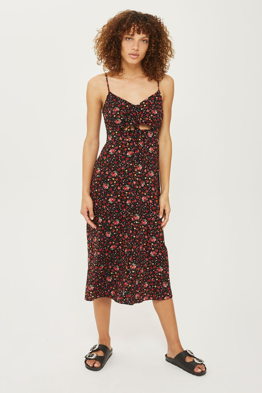 e59b1d7388 DITSY Knot Tie Front Dress - New In Dresses - New In - Topshop Ditsy Floral