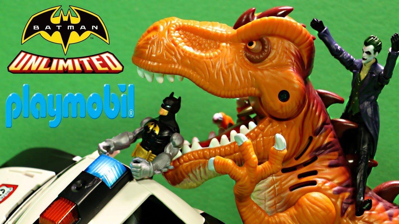 Playmobil police car with batman and t rex jurassic world - Batman playmobil ...