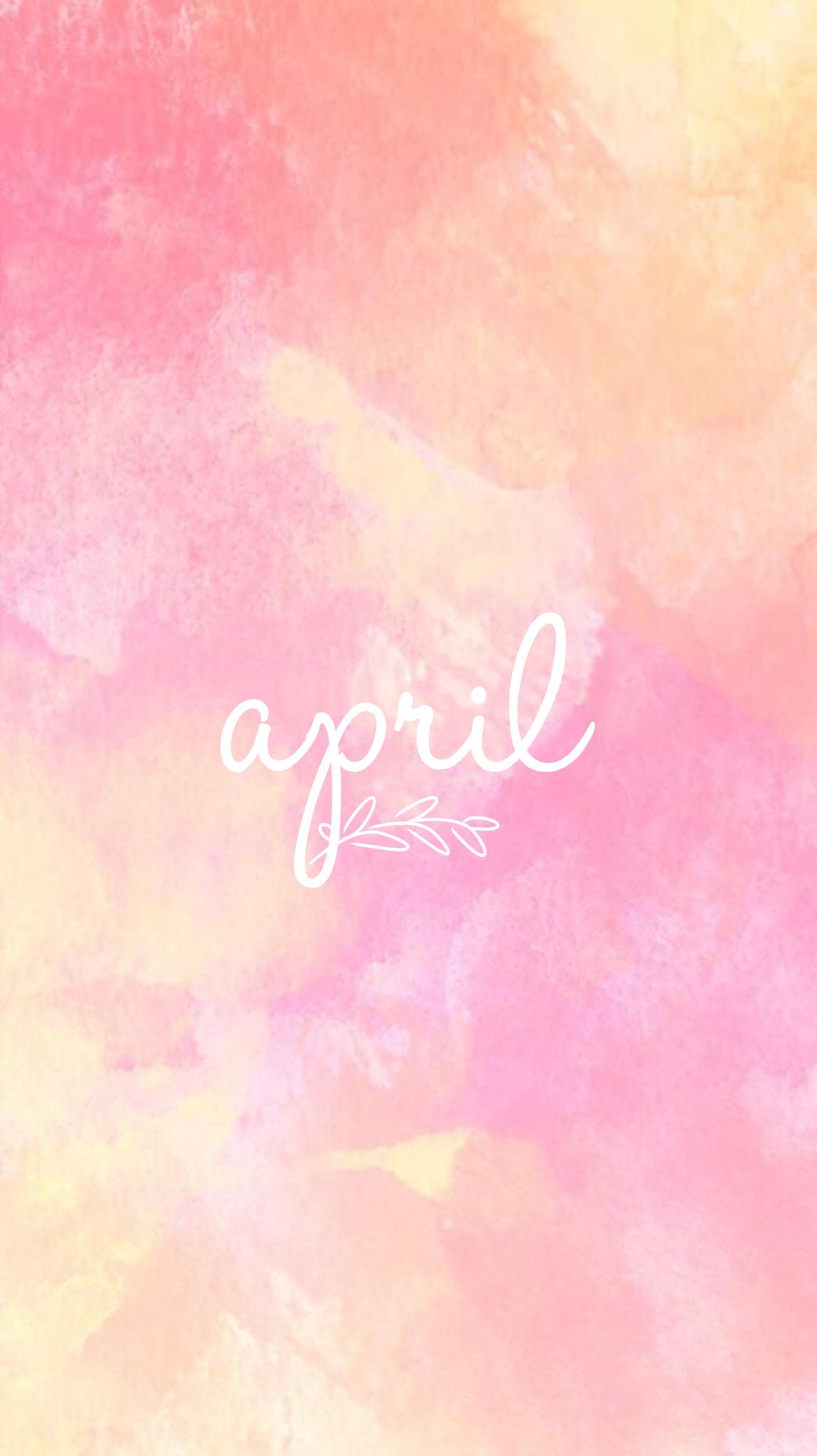 Cute Wallpapers Watercolor April Month Wallpaper Fondos Edit Evaxo Iphone 7 Plus