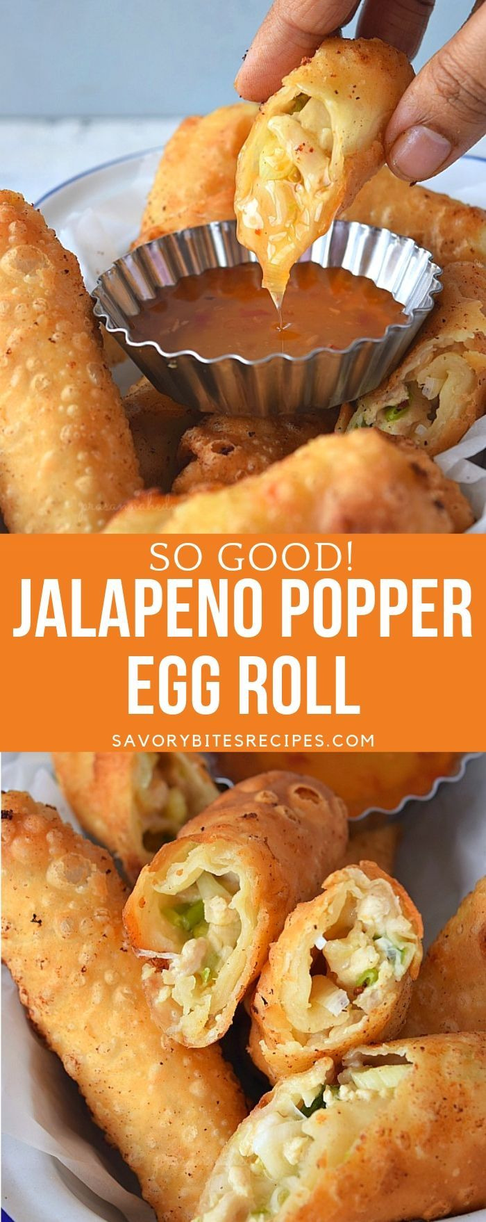 So good Jalapeno Popper Egg Roll! You wont stop at one.