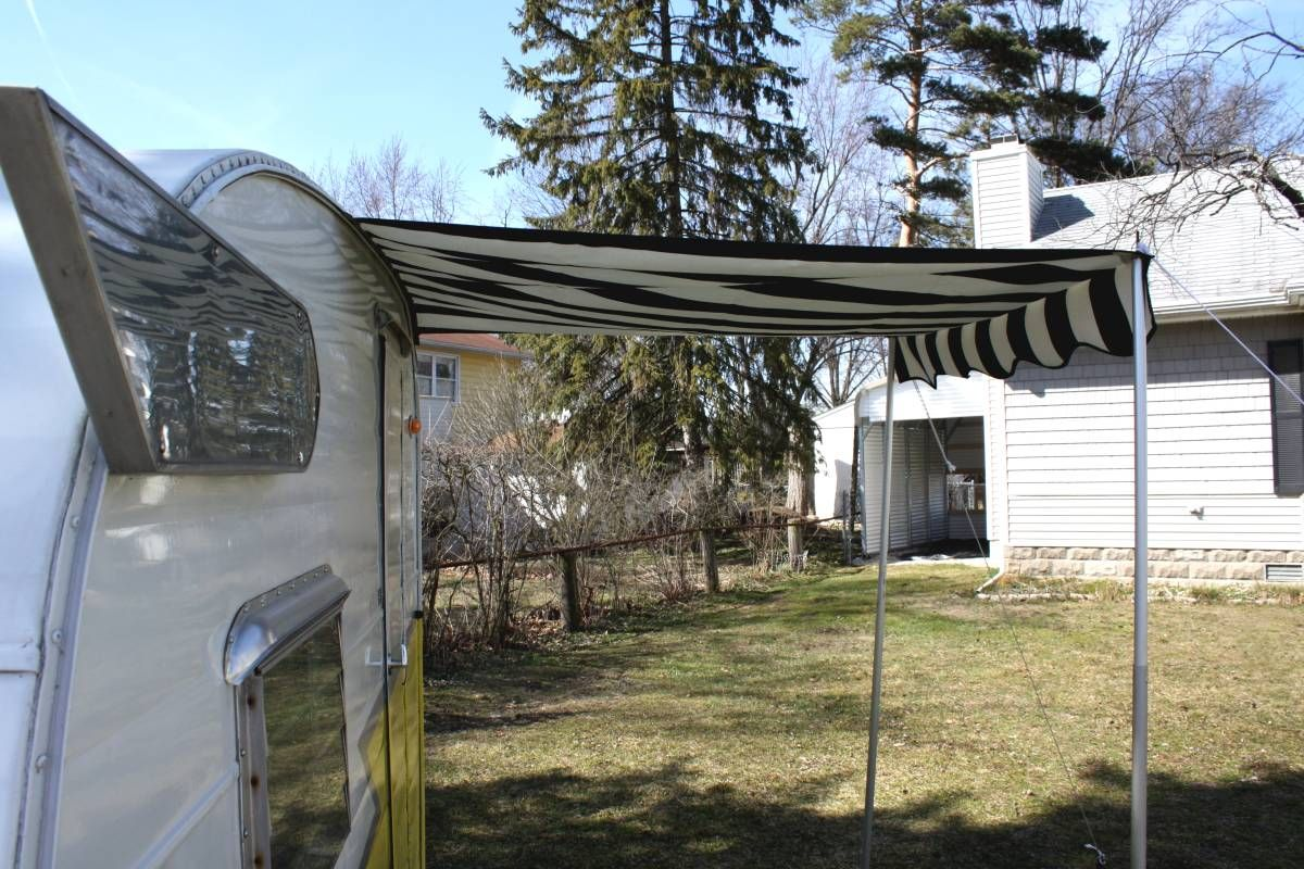 VINTAGE CAMPER MATERIAL | Small Awning For Your Vintage ...